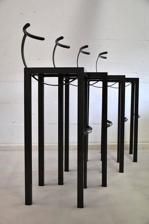 Four Sarapis 1986 Bar Stools By Philippe Starck At 1stdibs