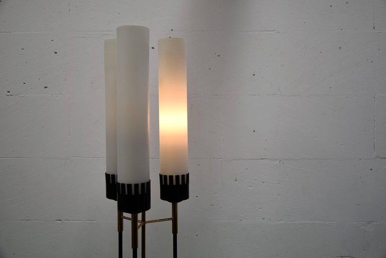Stilnovo Mid-Century Floor Lamp In Good Condition For Sale In Weesp, NL