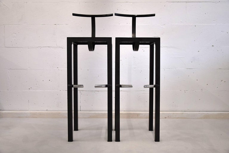 Sarapis Two Bar Stools Philippe Starck 1986 For Sale At