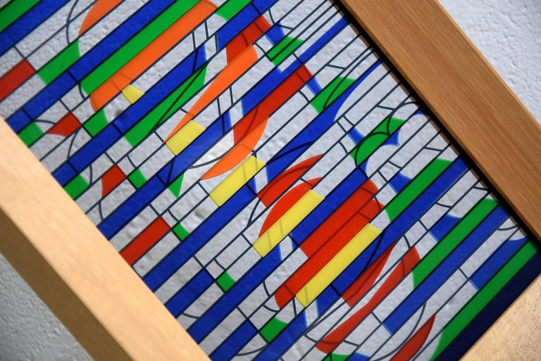 Art Yaacov Agam Signed and numbered 25/27 from the Meissner Galerie in Hamburg Measurements: H 33 x W 23 x D 4 cm. Agam's first solo exhibition was at the Galerie Craven, Paris, in 1953, and he exhibited three works at the 1954 Salon des Réalités