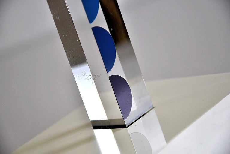 Yaacov Agam 1970s Image Magic art sculpture. Very rare beautiful signed and numbered 71/99 Art work by Yaacov Agam. Measurements: H 63.5 x D 11 x W 11 cm. Euro 13.500  Art work will be shipped abroad in a custom made wooden crate. Cost of transport
