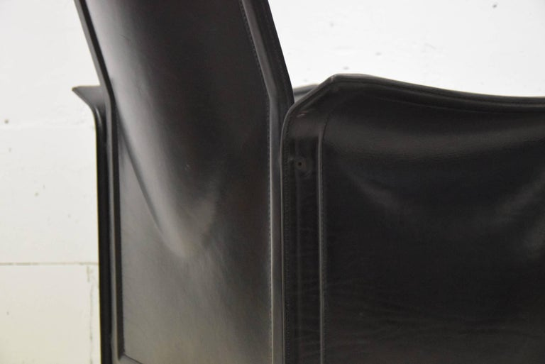 Tito Agnoli Korium Leather Armchair for Matteo Grassi In Good Condition For Sale In Weesp, NL