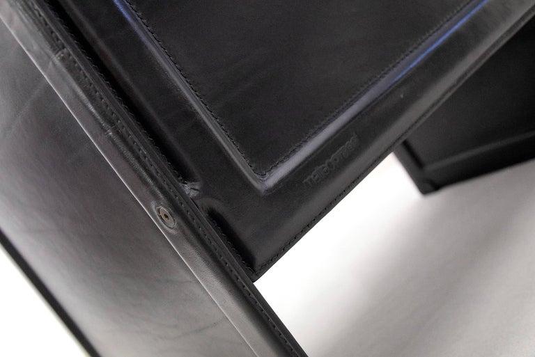 Mid-Century Modern Tito Agnoli Korium Leather Armchair for Matteo Grassi For Sale