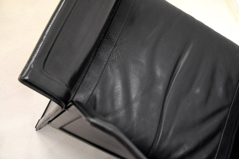 Tito Agnoli Korium Leather Armchair for Matteo Grassi For Sale 1