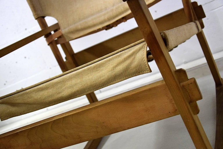 Rare Mid Century modern Poul Hundevad Rocking Chair In Good Condition For Sale In Weesp, NL