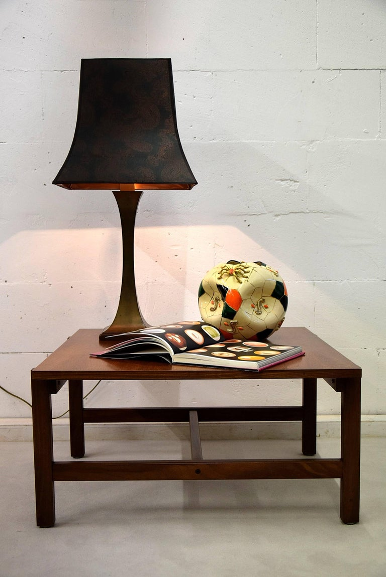 Maison Jansen Mid Century Modern Brass Table Lamp For Sale 2
