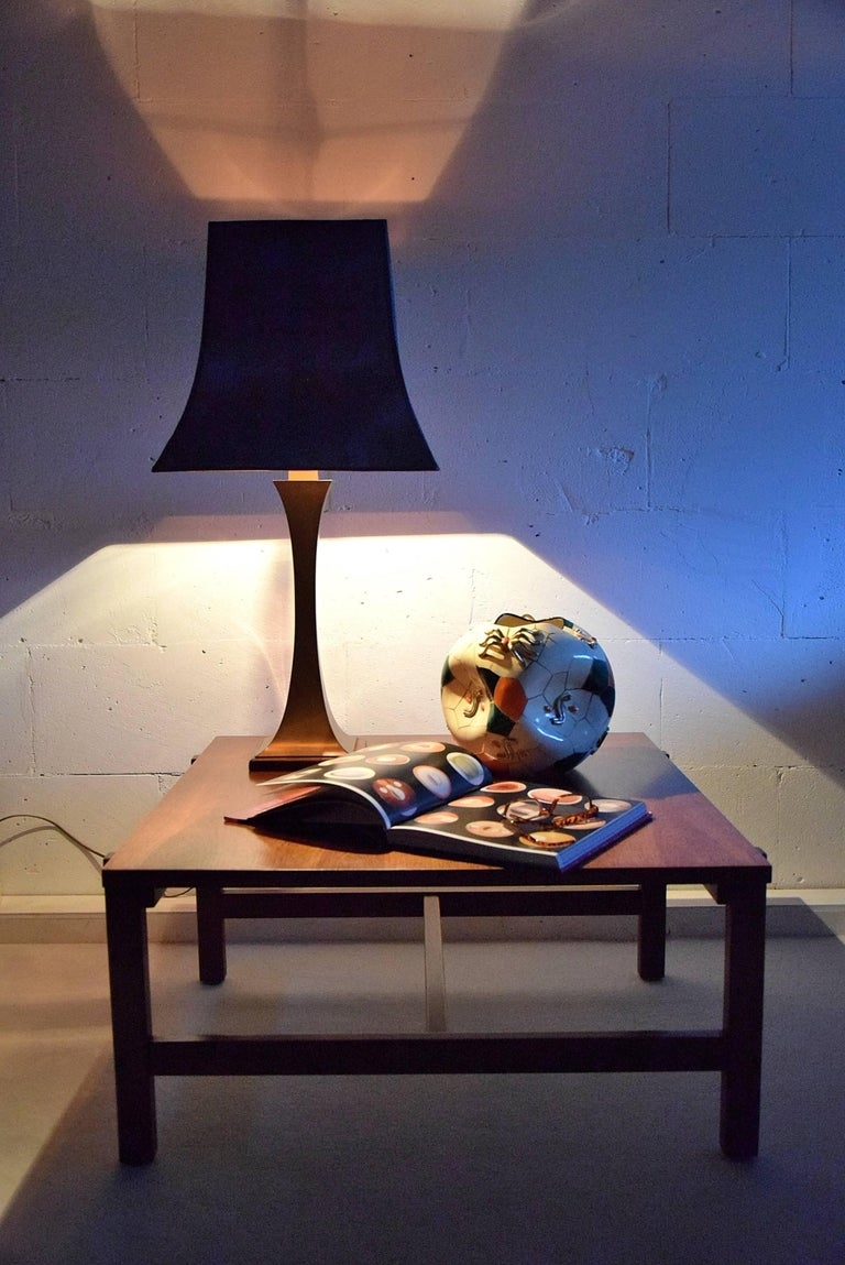 Maison Jansen Mid Century Modern Brass Table Lamp For Sale 1