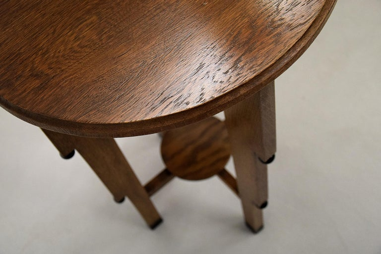 Art Deco Oak Side Table For Sale 4