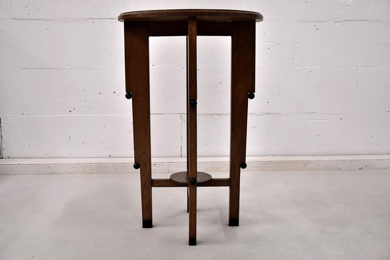 Art Deco Oak Side Table For Sale 1