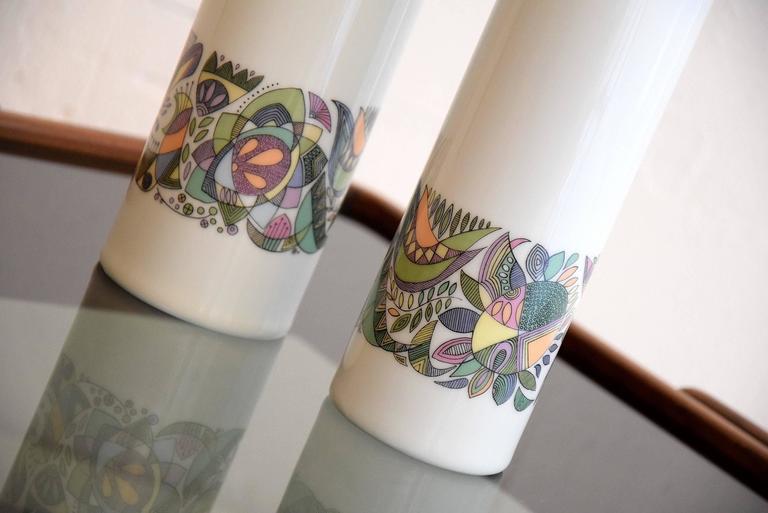 Porcelain Cuno Fischer  Vases for Rosenthal For Sale