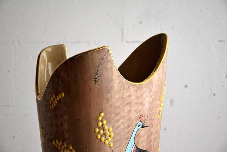Early 1960s Ceramic Umbrella Stand For Sale 1