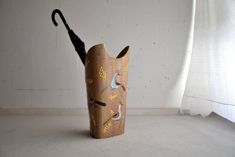 Early 1960s Ceramic Umbrella Stand For Sale 4