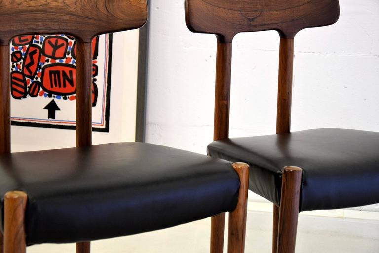 Leather 20th Century Rosewood T Chair For Sale