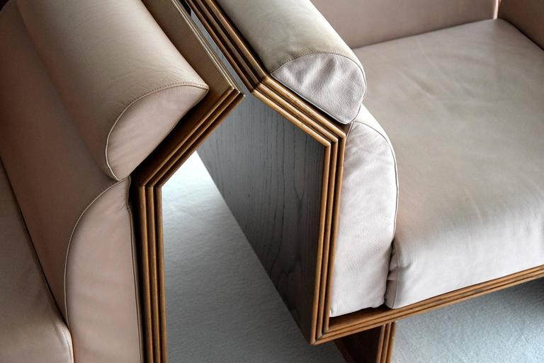 Leather Poltrona Pretenziosa Chairs by Ugo La Pietra, 1983