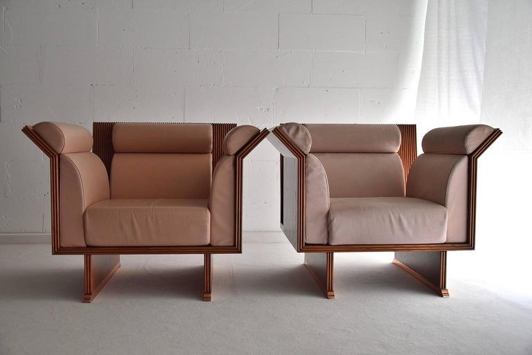 Late 20th Century Poltrona Pretenziosa Chairs by Ugo La Pietra, 1983