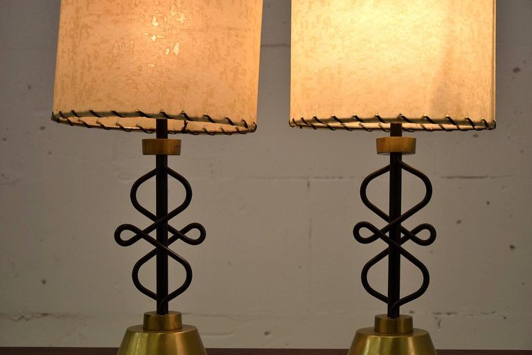 Two 1950s Table Lamps by Majestic, New York For Sale 1