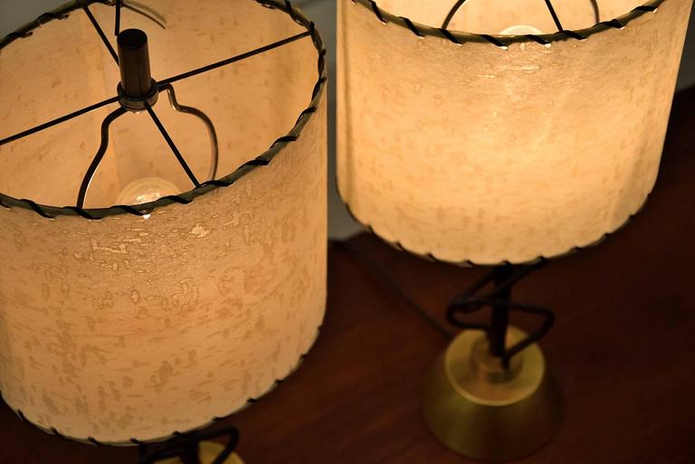 Two 1950s Table Lamps by Majestic, New York For Sale 2