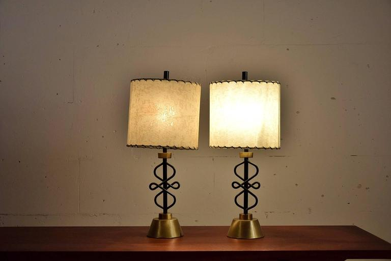Two 1950s Table Lamps by Majestic, New York For Sale 4