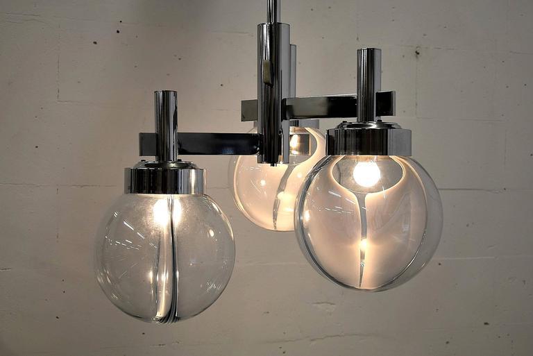 Venini Mid Century Modern Ceiling Lamp For Sale 3