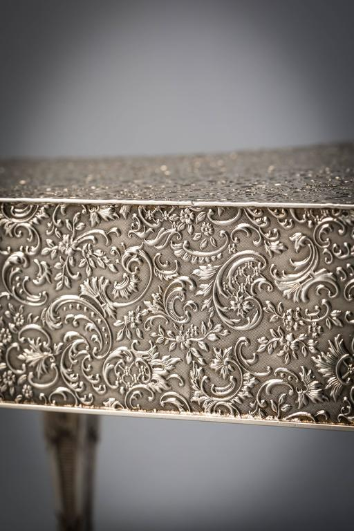 English Silver Piano, Form Jewelry Box For Sale 1