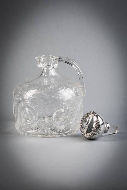 Gorham silver and crystal decanter, circa 1910.