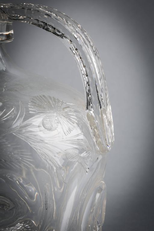 American Gorham Silver and Crystal Decanter, circa 1910 For Sale