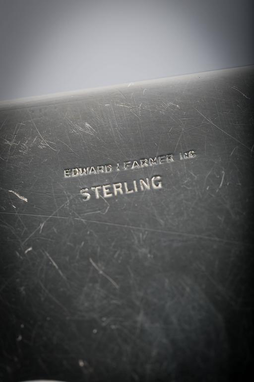 20th Century Sterling Silver and Jade Box, Farmer, circa 1920 For Sale