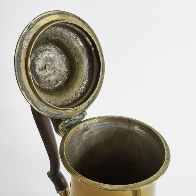 "Exceptional Brass ""Silver Form"" English Coffee Pot with Pseudo Marks, 1755 3"