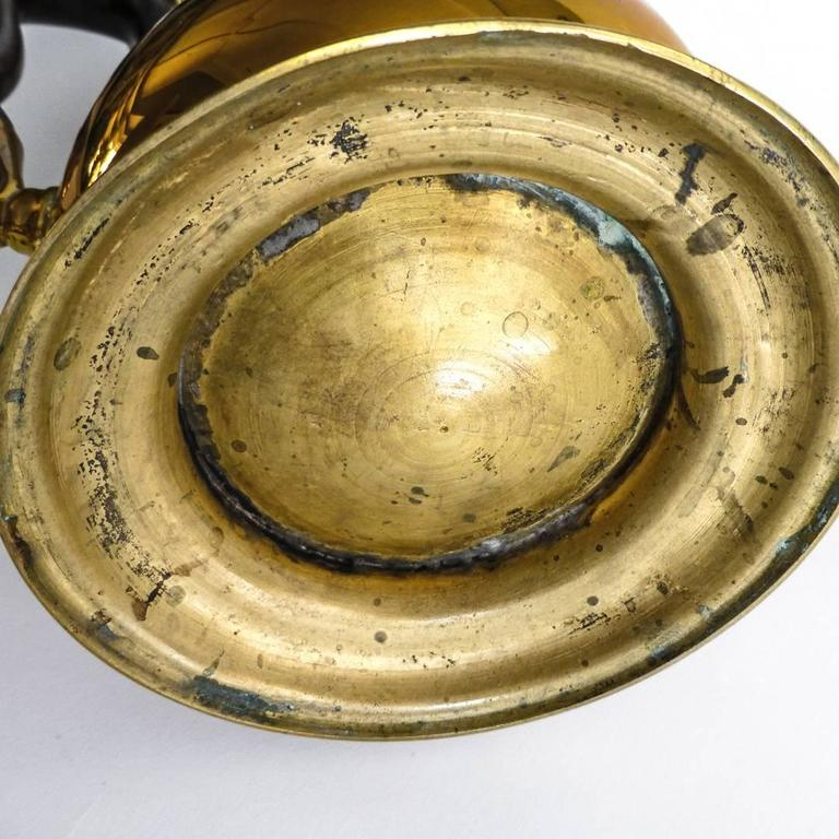"Exceptional Brass ""Silver Form"" English Coffee Pot with Pseudo Marks, 1755 9"