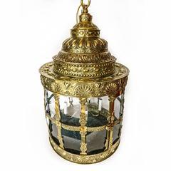Exceptionally Rare over Sized Dutch 18th Century Brass Lantern, circa 1780