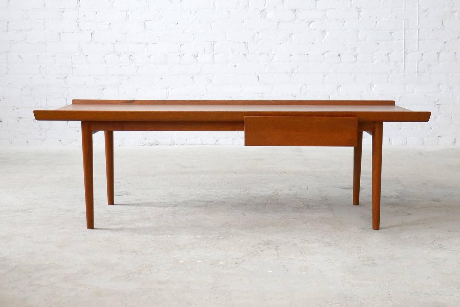 Finn juhl rare niels vodder teak vintage danish modern coffee table for sale at 1stdibs Modern teak coffee table