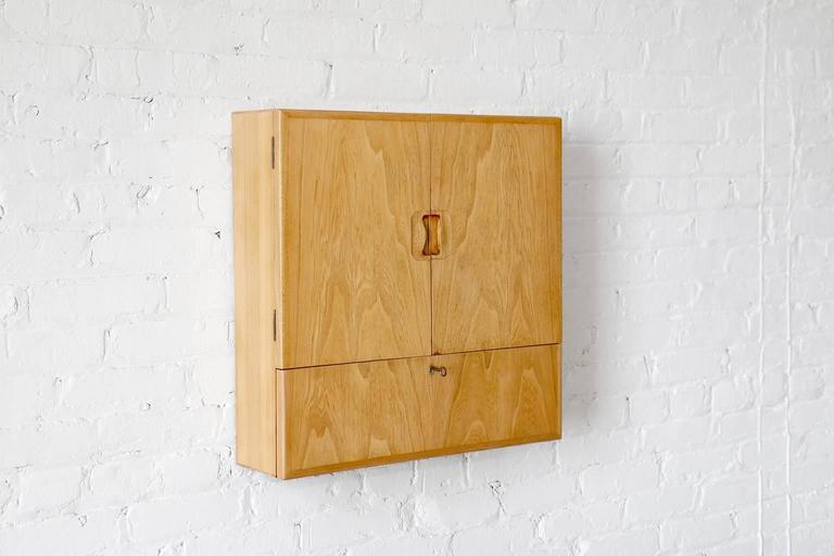 "Scandinavian Modern Tove & Edvard Kindt-Larsen ""Young Lady Wanted"" Elm Wall Cabinet Gustav Bertelsen For Sale"