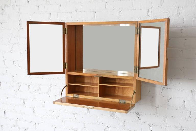 "Danish Tove & Edvard Kindt-Larsen ""Young Lady Wanted"" Elm Wall Cabinet Gustav Bertelsen For Sale"