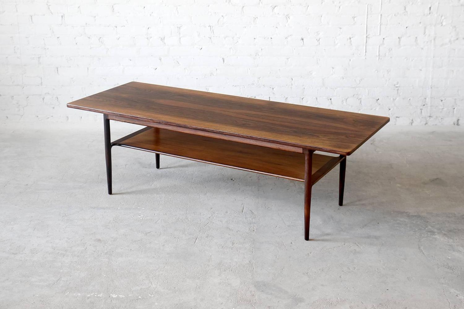 Ib kofod larsen brazilian rosewood coffee table by for Coffee tables port elizabeth