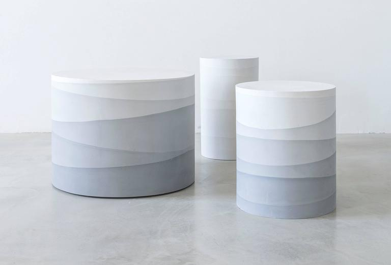 Contemporary Fade Series Cement Drums by Fernando Mastrangelo For Sale