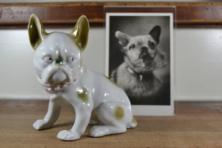 Popular Vintage Porcelain French Bulldog Figurine For Sale at 1stdibs FY43