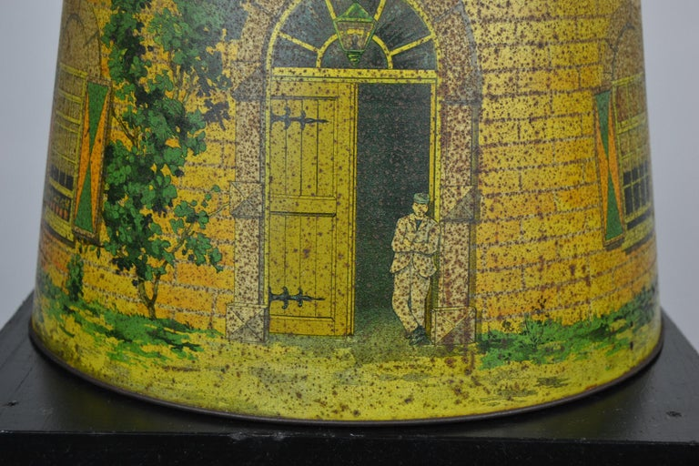 1920s Van Melle's Toffees Tin - Antique Candy Box Holland - Dutch Windmill  For Sale 1