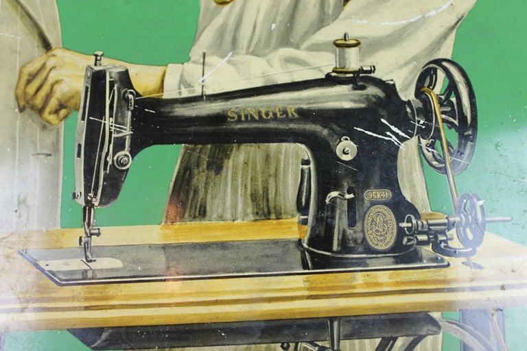 Vintage Singer Sewing Sign With Tailor And Singer Sewing Machine For New Tailor Sewing Machine
