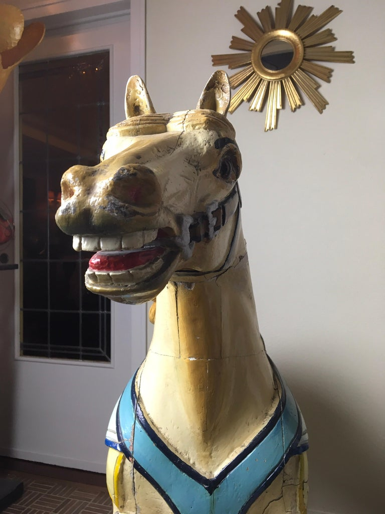 Early 20th Century Carved Wood Carousel Horse by Atelier J. Hübner Germany  For Sale 11
