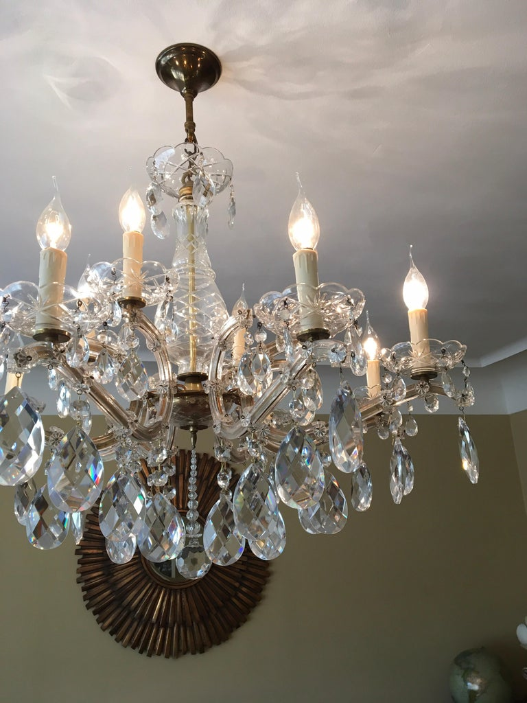 Baroque Maria Theresa Style Vintage 12 Lights Crystal Chandelier For Sale