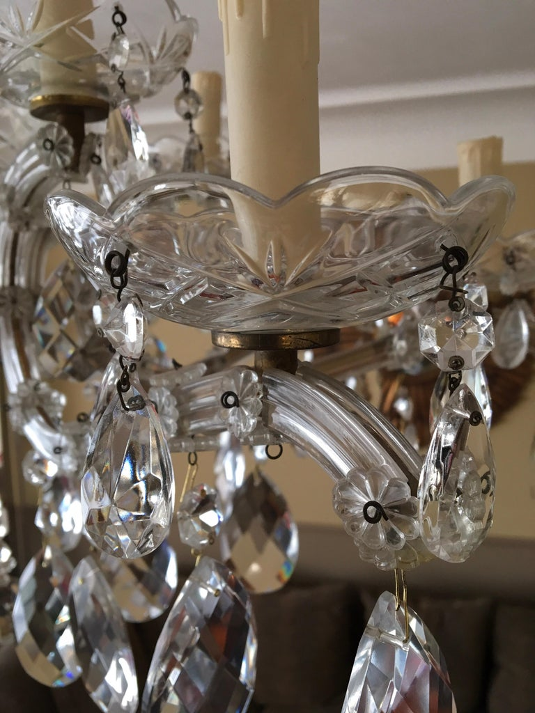 Maria Theresa Style Vintage 12 Lights Crystal Chandelier For Sale 2