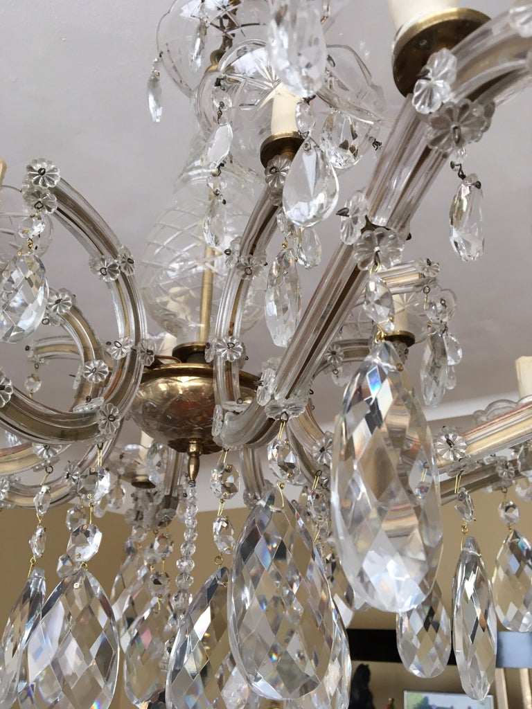 Maria Theresa Style Vintage 12 Lights Crystal Chandelier For Sale 5
