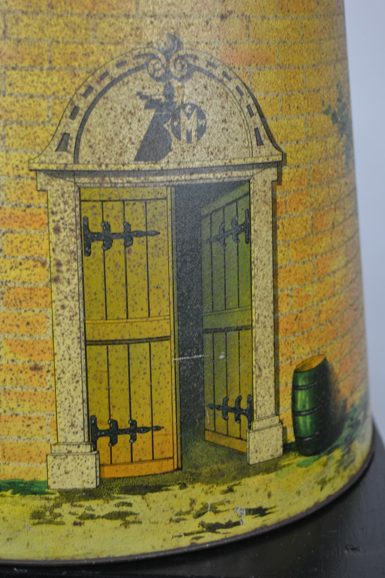 1920s Van Melle's Toffees Tin - Antique Candy Box Holland - Dutch Windmill  For Sale 4