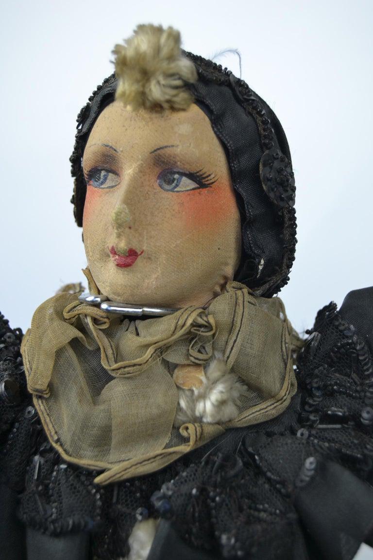 Art Deco 1920s French Boudoir Dolls, Salon Dolls, Pierrot and Pierrette For Sale