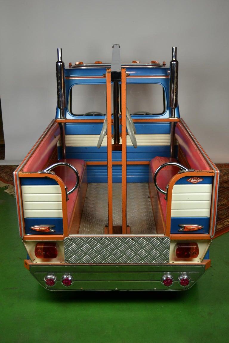 1980s Metal Carousel Tow Truck by L' Autopède Belgium For Sale 4