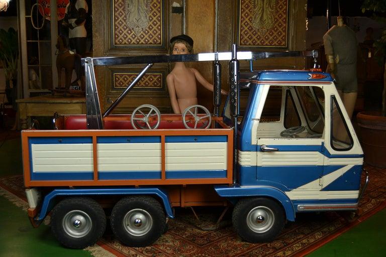 Belgian 1980s Metal Carousel Tow Truck by L' Autopède Belgium For Sale