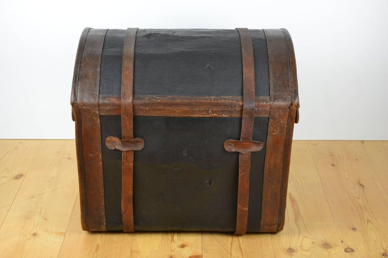 Steamer Trunk, Wicker Covered with Canvas, Late 19th Century 4