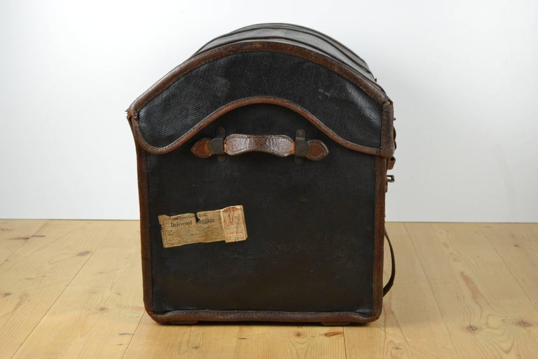 Steamer Trunk, Wicker Covered with Canvas, Late 19th Century 5