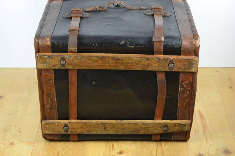 Steamer Trunk, Wicker Covered with Canvas, Late 19th Century 6