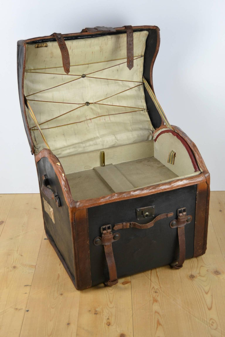Steamer Trunk, Wicker Covered with Canvas, Late 19th Century 7